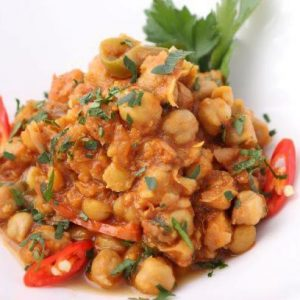 Chickpea curry with rice (Gluten free )