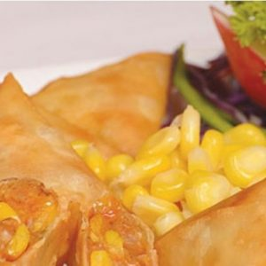 Cheese & Sweetcorn Samosas